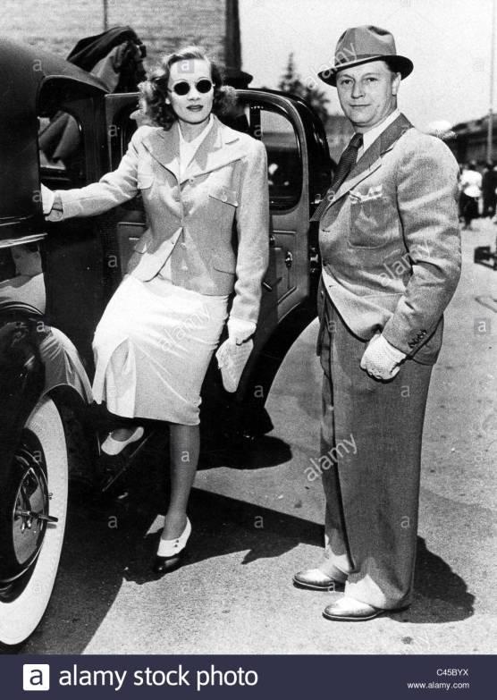 Marlene Dietrich mit ihrem Ehemann Rudolf Sieber in Pasadena. | Marlene Dietrich with her husband, Rudolf Sieber in Pasadena., 25.06.1937